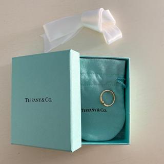 ティファニー(Tiffany & Co.)のTiffany&Co. TワイヤーダイヤモンドYGリング(リング(指輪))