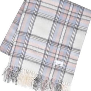 ホワイト♡身につけるだけで可愛いチェックストール♡羽織ったり♡リボンに結んだり♡(ストール/パシュミナ)