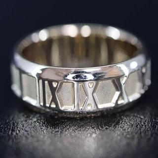 K18 イエロー ゴールド アラビア数字 デザイン リング(リング(指輪))