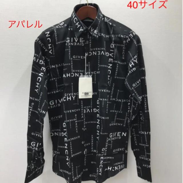 GIVENCHY(ジバンシィ)の新品19AW GIVENCHY オールオーバーロゴ 総柄 シャツ 40(M) 黒 メンズのトップス(シャツ)の商品写真