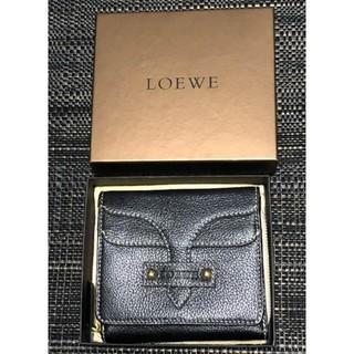 LOEWE - LOEWE ロエベ 二つ折り財布 合皮 ラウンドファスナー