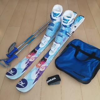ロシニョール(ROSSIGNOL)の子供用スキー板116cm、ブーツ21cm、ストック95cm、ブーツケースセット(板)