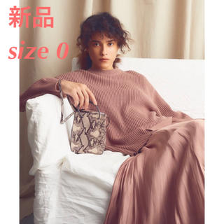 Mila Owen - 新品タグ付き ミラオーウェン スカートコーディネートニットワンピース ピンク