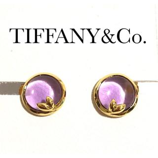 Tiffany & Co. - TIFFANY&C0 ティファニー K18YG オリーブ アメジスト ピアス