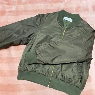 chocol raffine robe - MA-1 カーキ