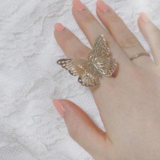 Lily Brown - lattice リング☺︎蝶々 蝶 バタフライ 蝶々リング