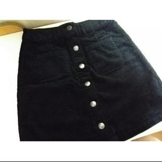 LOWRYS FARM - コーデュロイ フロントボタン スカート