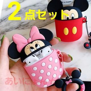 ミニーマウス - ミニー ミッキー エアポッズ AirPods ケース ディズニー エアーポッズ