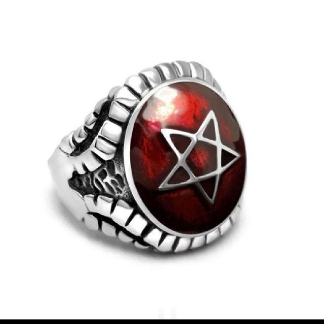 リング 指輪  スター 五芒星 ステンレス  メンズのアクセサリー(リング(指輪))の商品写真