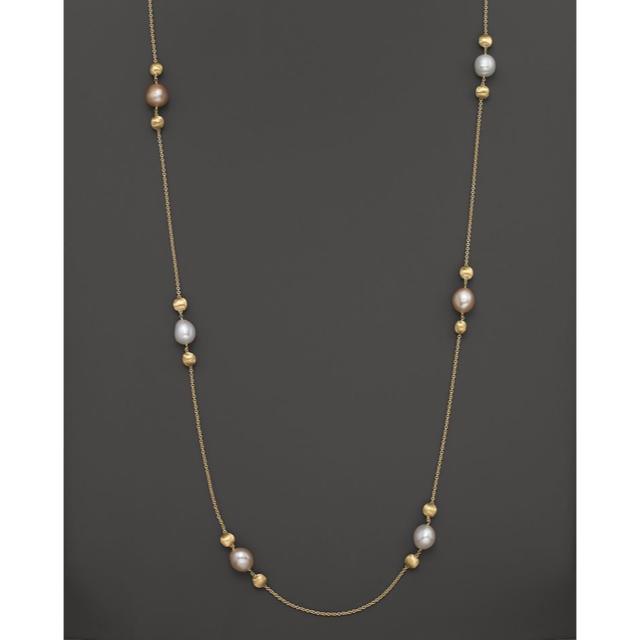 ete(エテ)の新入荷✳︎淡水真珠 ロングネックレス(ライドゴールド14k) レディースのアクセサリー(ネックレス)の商品写真