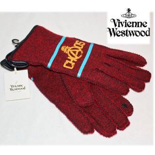 ヴィヴィアンウエストウッド(Vivienne Westwood)の《ヴィヴィアンウエストウッド》新品 タッチパネル対応 手袋 赤 23~24cm(手袋)