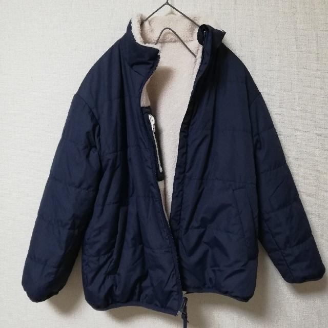 GU(ジーユー)のGU 今期 新作 ボアリバーシブルブルゾン 130 ボアブルゾン ボアジャケット キッズ/ベビー/マタニティのキッズ服男の子用(90cm~)(ジャケット/上着)の商品写真