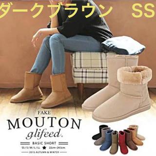 ミディアム丈  ブーツ★ダークブラウン SS(ブーツ)