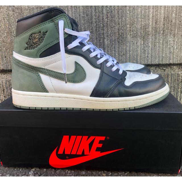 NIKE(ナイキ)のNIKE AIR JORDAN 1 RETRO HIGH OG クレイグリーン メンズの靴/シューズ(スニーカー)の商品写真