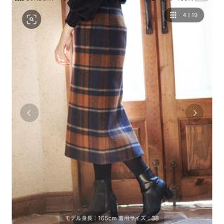 ビッグチェックアイラインスカート