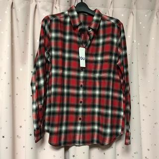 GU - 新品! GU*フランネルチェックシャツ*ネルシャツ*Lサイズ