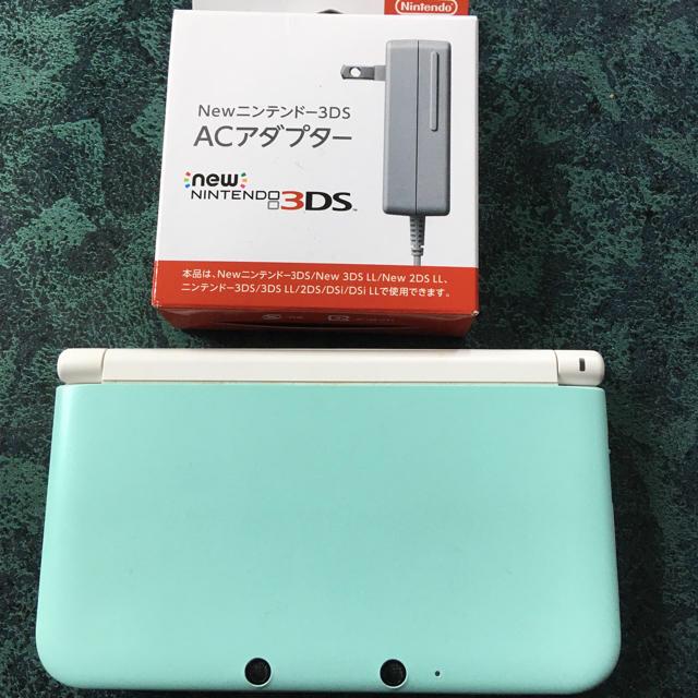 ニンテンドー3DS(ニンテンドー3DS)の3DS LL ミント 本体 エンタメ/ホビーのゲームソフト/ゲーム機本体(携帯用ゲーム機本体)の商品写真