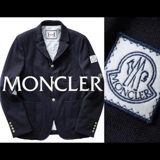 モンクレール(MONCLER)の【正規品】モンクレールガムブルー テーラードダウンジャケット/SIZE 0(ダウンジャケット)