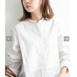 IENA - 【新品タグ付】IENA バンドカラーロングシャツ
