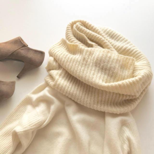 BEAUTY&YOUTH UNITED ARROWS(ビューティアンドユースユナイテッドアローズ)の新品♡BEAUTY&YOUTH *ボリュームリブニットスヌード レディースのファッション小物(スヌード)の商品写真