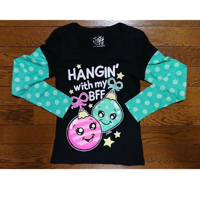 justiceクリスマスTシャツ キッズ/ベビー/マタニティのキッズ服女の子用(90cm~)(Tシャツ/カットソー)の商品写真