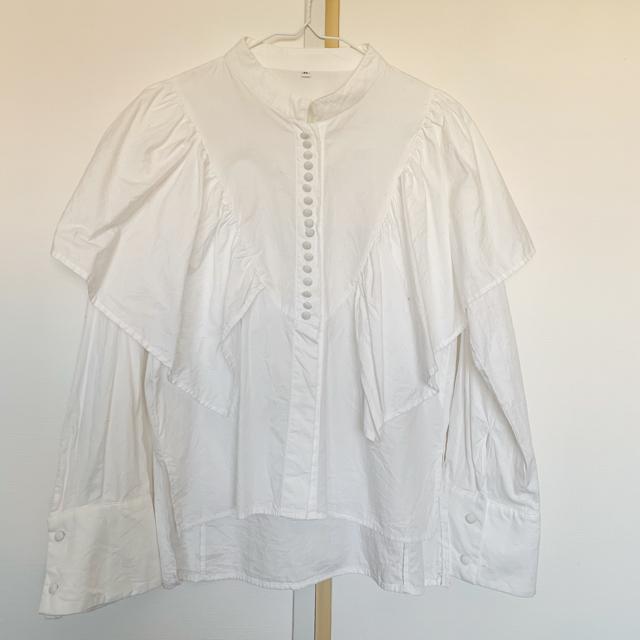 Ray BEAMS(レイビームス)のRBS シャツ フリル袖 レディースのトップス(シャツ/ブラウス(長袖/七分))の商品写真