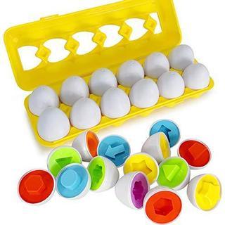 マッチングおもちゃ 卵12個セット Beebeerun モンテッソーリ教育おも