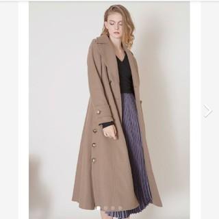 リエンダ(rienda)のミエリインヴァリアント Hybrid Flare Knit Coat グレージュ(ロングコート)
