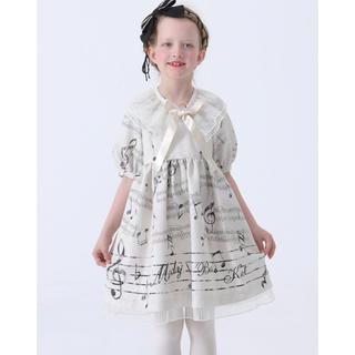 Shirley Temple - メロディバスケット 音符 楽譜 プリント ワンピース 120 シャーリーテンプル