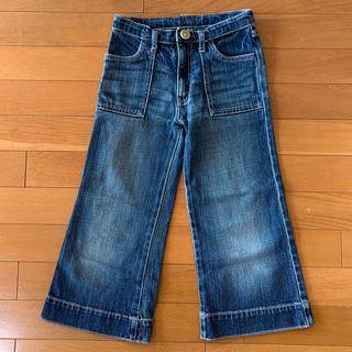MUJI (無印良品) - 送料込み130cm 無印良品 MUJI 赤ステッチデニムジーンズズボンパンツ男女