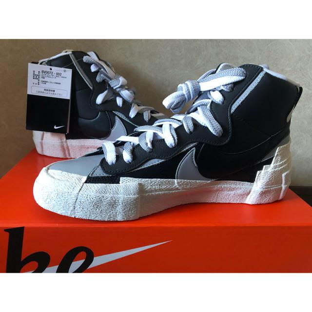 NIKE(ナイキ)のsacai blazer  black/wolf grey メンズの靴/シューズ(スニーカー)の商品写真