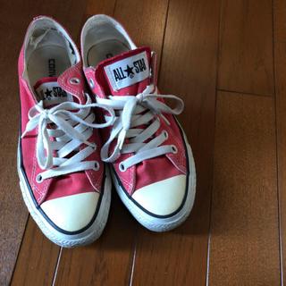 CONVERSE - コンバース レディース コーデュロイ ベージュ 赤 まとめ売り スニーカー 靴