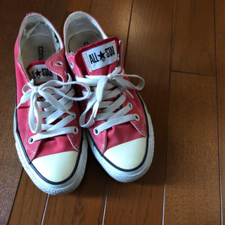 CONVERSE - コンバース レディース  赤 スニーカー 靴