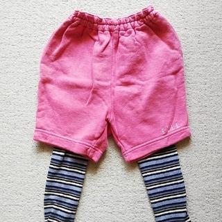 エル(ELLE)のELLE エル ピンク ボトムス 短パン パンツ 黒 ボーダー タイツ 95(パンツ/スパッツ)