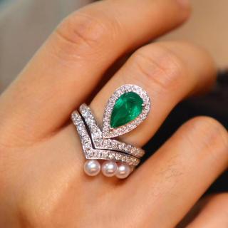 天然コロンビア産1.12ct高級エメラルド指輪セット(リング(指輪))