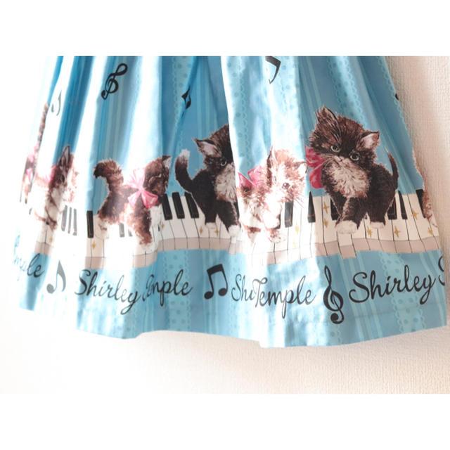 Shirley Temple(シャーリーテンプル)の新品 シャーリーテンプル 猫ピアノ ワンピース jsk キッズ/ベビー/マタニティのキッズ服女の子用(90cm~)(ワンピース)の商品写真