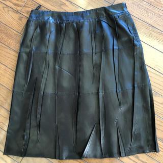 プラダ(PRADA)のPRADA  サテンスカート(ひざ丈スカート)
