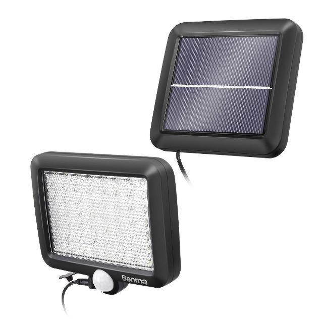 56 LED超高輝度ソーラーライトwithモーションディテクター(5Mケーブル) インテリア/住まい/日用品のライト/照明/LED(その他)の商品写真