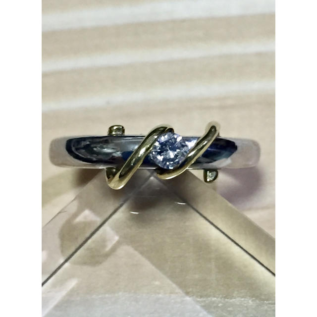 リモ様専用  18金プラチナ ダイヤリング レディースのアクセサリー(リング(指輪))の商品写真
