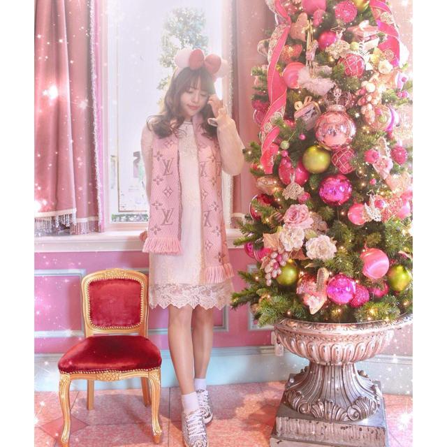 Lily Brown(リリーブラウン)のリリーブラウン チュール ニット ワンピース レディースのワンピース(ひざ丈ワンピース)の商品写真