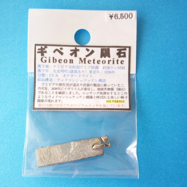 ギベオン 隕石 ペンダント トップ  ナミビア産 レディースのアクセサリー(ネックレス)の商品写真