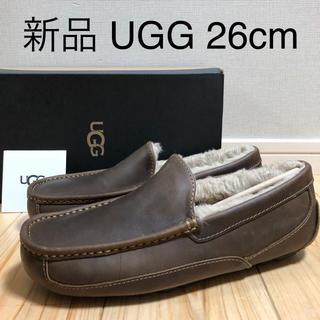アグ(UGG)の新品 UGG アスコット 26cm 25.5cm タン レザー モカシン (スリッポン/モカシン)