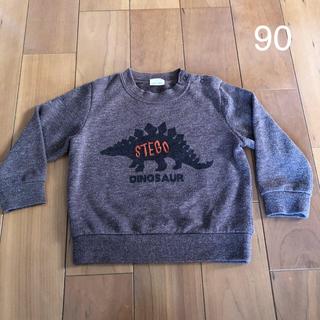 プティマイン(petit main)のpetit main プティマイン 恐竜 ステゴサウルス トレーナー 90サイズ(Tシャツ/カットソー)