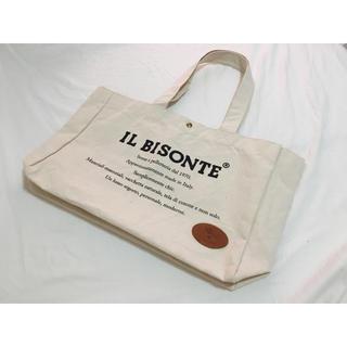 IL BISONTE - 未使用品◆イルビゾンテ キャンバス トートバッグ 本革ロゴ 人気 ムック本