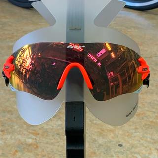 SH+ サングラス『RG5200』オレンジ 替レンズ2枚付き クリア.ブラウン(ウエア)