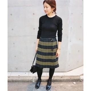 IENA - IENA Wフェイス ショート丈スカート 40
