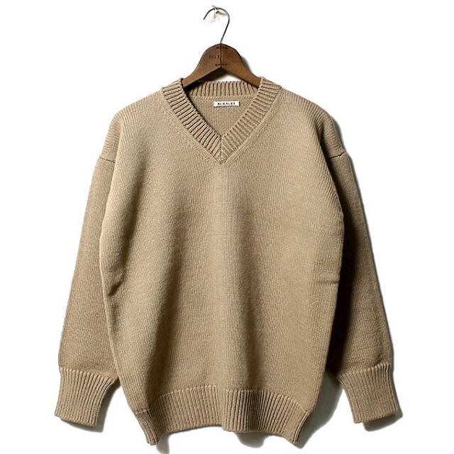 Ron Herman(ロンハーマン)の新品未使用‼️AURALEE FELT WOOL KNIT オーラリー ニット メンズのトップス(ニット/セーター)の商品写真