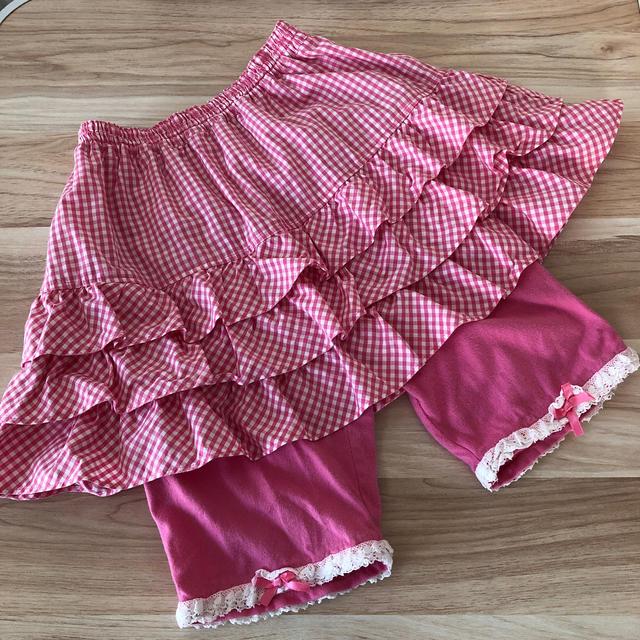 Shirley Temple(シャーリーテンプル)のshirley temple☆スカパン(130) キッズ/ベビー/マタニティのキッズ服女の子用(90cm~)(スカート)の商品写真