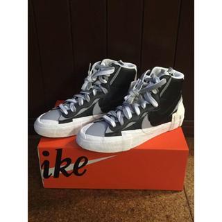 ナイキ(NIKE)の[25cm] Nike Blazer Mid sacai Black Grey(スニーカー)