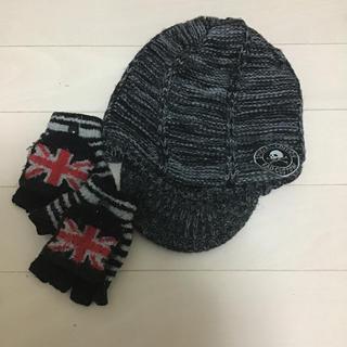 ベベ(BeBe)の未使用べべニット帽子セット(帽子)